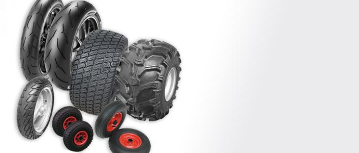 Unser Sortiment umfasst nicht nur Reifen für PKW, SUV, Offroader, Transporter und Motorräder. Bei uns erhalten sie auch Reifen und Schläuche für Roller, Quad, Rasenmäher und Schubkarren.